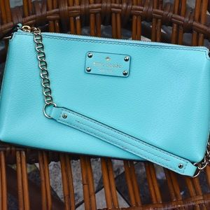 NWOT Kate Spade Wellesley Byrd purse, turquoise